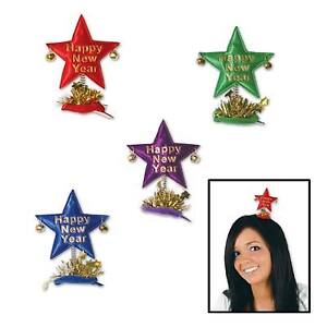 Happy New Year Star Hair Clips