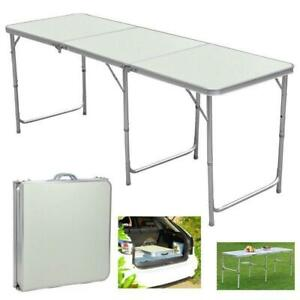 Portable Aluminum 6ft Folding Table In/Outdoor Picnic Party Dining Camping Table