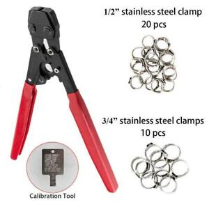 PEX Cinch Crimper w 30PCS Stainless Steel Clamps 38