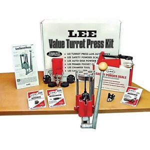Lee Precision 90928 Deluxe 4 Hole Turret Press Kit WAuto Disk Powder Measure