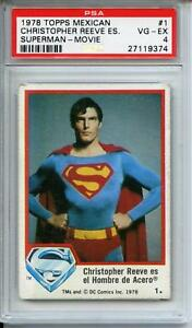 1978 Topps Mexican Superman #1 Christopher Reeve PSA 4 POPULATION 1 NEVER SEEN!!