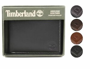 Timberland Men#x27;s Genuine Leather Passcase Credit Card Id Billfold Wallet