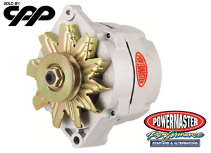 Powermaster 7294 Natural Finish GM 100 Amp 12SI Alternator w 1V Groove Pulley
