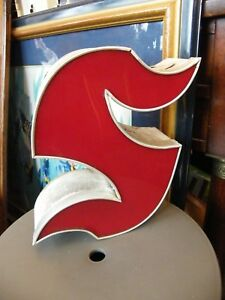 Letter S Gothic Red Brand name Lighting Shop years 60 Deco Loft 13in N1