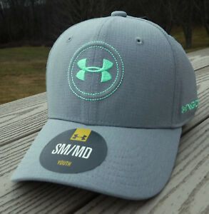 NWT UNDER ARMOUR HeatGear Jordan Spieth Tour Flex Fitted Boys Golf Hat-SM $25
