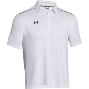 NWT UNDER ARMOUR Men's Ultimate Loose Fit Polo Golf Shirt White. 2XL XXL