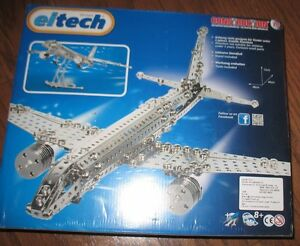 Eitech Classic Jetliner Construction Set NIP SEALED Includes Tools and Stand