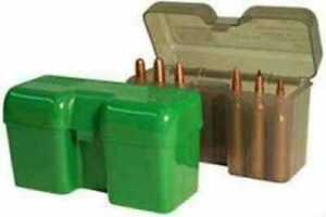 MTM Ammo Box 22 Round Flip-Top 338 WSM 45-70 450 Marlin Green RF22-SM-10
