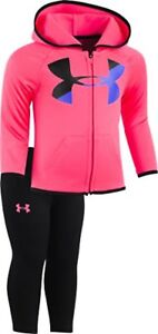 Under Armour Childrens Apparel Baby Girls Big Logo Hoody Set- Select SZColor.