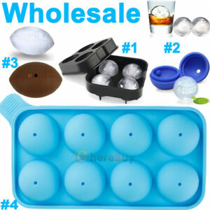 10x ICE Ball Maker Round Sphere Tray Mold Cube Whiskey Cocktail Silicone 4 Model