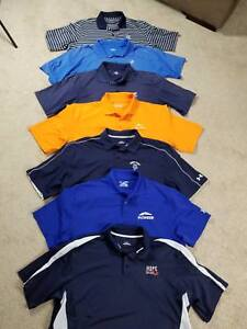 VERY NICE LOT 7 UNDER ARMOUR LOOSE GOLF SS POLO SHIRTS XL MOISTURE WICKING