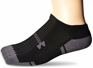 Under Armour Socks Mens Resistor No-Show 6-Pack L- Select SZColor.