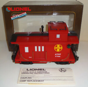LIONEL LARGE SCALE SANTA FE 8-87702 LIGHTED CABOOSE G TRAIN USA LGB ARISTO WOB