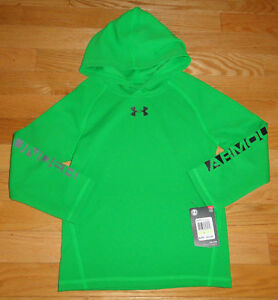 Under Armour Boys Pullover Hoodie Shirt Thermal Style 4 4T Putting Green NWT