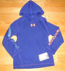 Under Armour Boys Pullover Hoodie Shirt Thermal Style 4 4T Caspian Blue NWT