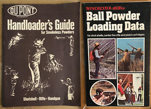 Dupont Hand Loaders Guide & Winchester Ball Powder Loading Data Lot of 2 BOOKS