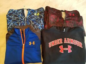 NICE LOT 4 UNDER ARMOUR HOODY SWEATSHIRTS YOUTH BOYS L