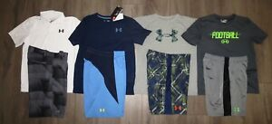 Lot 8 Boy's UNDER ARMOUR Loose Polo Shirts Athletic Golf Shorts YLG Large 1416