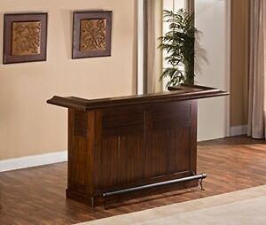 Hillsdale Classic Large Brown Cherry Bar Brown Cherry 64028BCHE Home Bar NEW