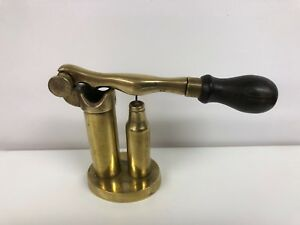 ANTIQUE BRASS CARTRIDGE RELOADING TOOL