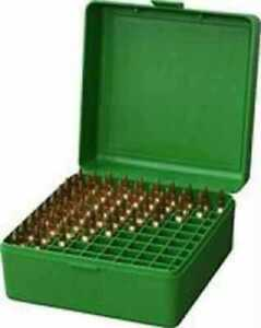 MTM Ammo Box 100 Round Flip-Top 22-250 243 308 Win 220 Swift Green RM-100-10