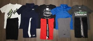 Lot 10 Boy's UNDER ARMOUR NIKE Dri-Fit Polo Shirts Athletic Shorts Medium YMD