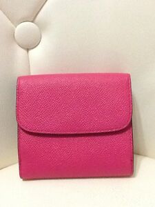Coach Trifold Wallet Pink Leather Women's New