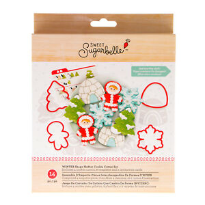American Crafts Sweet Sugarbelle Winter Cookie Cutters Template Set - 14 Pieces