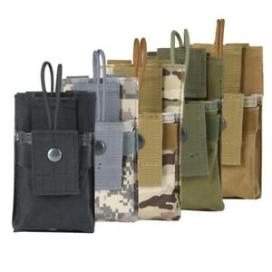 Hunting MOLLE Radio Hunting Holder Walkie Talkie Holster Open Top Pouches