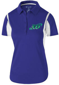 Columbia 300 Women's Nitrous Performance Polo Bowling Shirt Dri-Fit Purple Teal