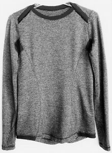 LULULEMON  Women's Vented Ruched-Shaped T-Shirt Top Long Sleeve wThumb Holes S