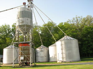Complete Grain bin system wgrain leg and dryer. 17000+ bu.