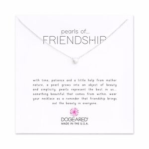 Dogeared Sterling Silver Small Pearls Of Friendship 16