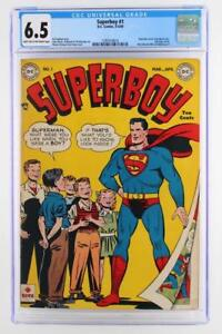 Superboy #1 - CGC 6.5 FN+ DC 1949 - Superman App & cover - 1st issue!!!