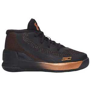 Under Armour Curry 3 Boys' Toddler BlackSilverCopper 3610-001