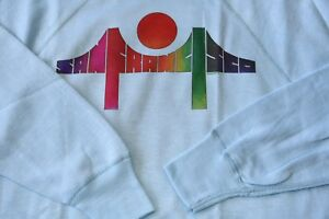 NWOT! 1976! VINTAGE SAN FRANCISCO MEDIUM SWEAT SHIRT BRIDGE GAY PRIDE RAINBOW