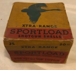 Vintage SEARS ROEBUCK SPORTLOAD SHOTGUN SHELLS Advertising Ammo Box ONLY