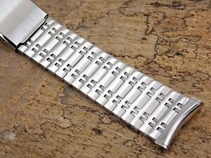 Vintage Stainless Steel Bulova Watch band bracelet 19mm 34 inch or 17.5mm NOS