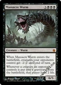 1 PLAYED Massacre Wurm Black Mirrodin Besieged Mtg Magic Mythic Rare 1x x1
