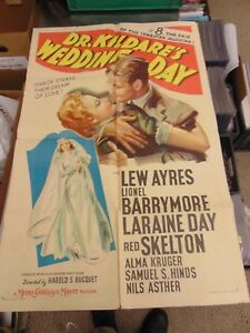 Lew Ayres Lionel Barrymore Dr. Kildare's Wedding Day 1-Sheet Movie Poster #N2412