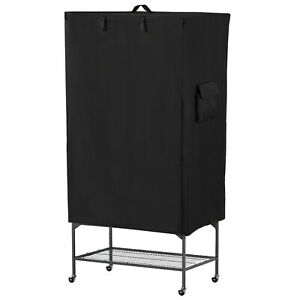 Large Black Bird Cage Cover Non-Toxic Breathable w/ Mesh Window
