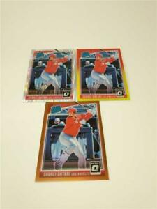 2018 PANINI DONRUSS OPTIC SHOHEI OHTANI #56 SHOCK BRONZE RED & YELLOW PRIZM LOT