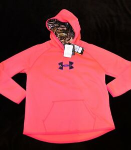 Under Armour COLDGEAR STORM FORREST CAMO hoodie sweatshirt GIRLS YXL $49.99