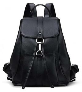 New vintage Women Real Genuine Leather Backpack Purse SchoolBag by Coolcy