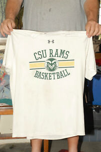 COLORADO STATE RAMS BASKETBALL DRY FIT WARM UP JERSEY T SHIRT UNDER ARMOUR XL
