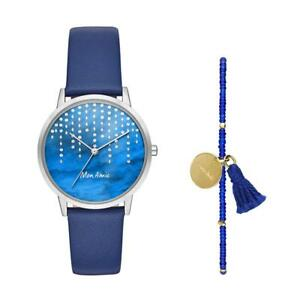 Mon Amie Women's Leather Watch and Bracelet Set - Supports Clean Water...
