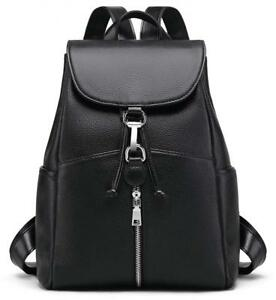 New Women Real Genuine Leather Backpack Purse vintage SchoolBag by Coolcy