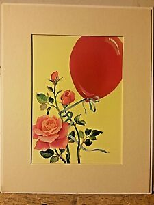 Portal Publications Balloon and Roses Laurel Delana Bettoli Lithograph CA002 40