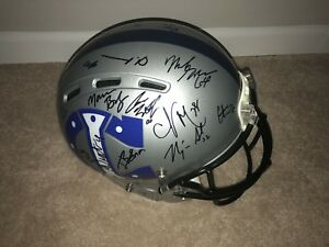 2018 INDIANAPOLIS COLTS TEAM SIGNED FULL SIZE FOOTBALL HELMET COA ANDREW LUCK
