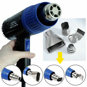 New Heat Gun Hot Air Dual Temperature+4 Nozzles Power Tool 1500 Watt W Heatgun